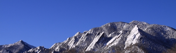 Flatirons in Boulder CO