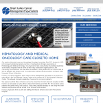 New Website design for Great Lakes Cancer Management Specialists