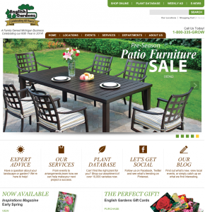 Website Design for English Gardens