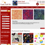Creative Quilt Kits ecommerce web design in Brighton Michigan