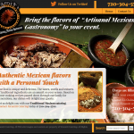 Web design for Xicamiti Catering