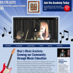 Mojo's Music Academy web design, Longmont, Colorado