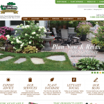 Web design for English Gardens in Michigan