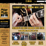 Miller Music web design, Longmont, Colorado