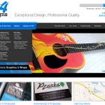 W4 Signs web design